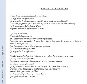 Linéaire B traduction tablette PY244=Ta714